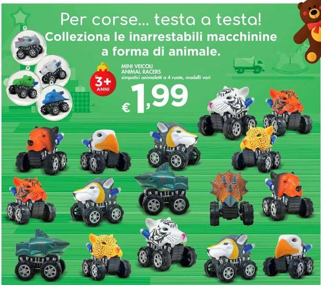 Offerta per Mini Veicoli Animal Racers a 1,99€
