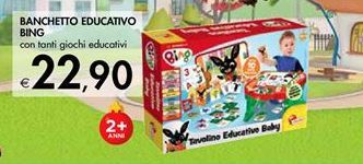 Offerta per Banchetto Educativo Bing a 22,9€