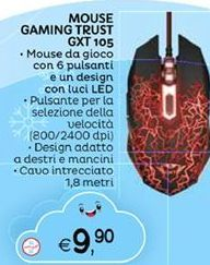 Offerta per Mouse gaming trust gxt a 9,9€