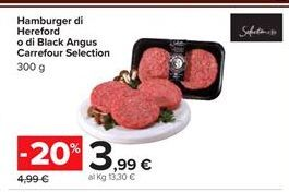 Offerta per Hamburger Hereford o di Black Angus Carrefour Selection a 3,99€
