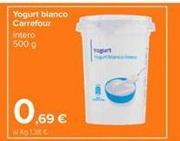 Offerta per Yogurt bianco Carrefour a 0,69€