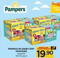 Offerta per Pannolini baby-dry pampers a 19,9€