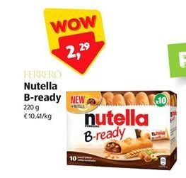Offerta per Snacks Nutella B-ready a 2,29€