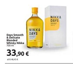 Offerta per Days smooth & delicate blended whisky 700 ml a 33,9€