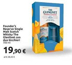 Offerta per Founder's reserve single malt scotch whisky the glenlivet con due bicchieri 700 ml a 19,9€