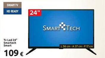 Offerta per Tv led 24'' smartech smart a 109€
