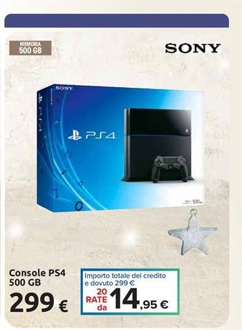 Offerta per Console ps4 500 gb Sony a 299€