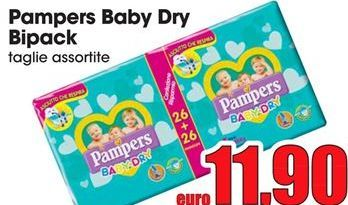 Offerta per Pampers baby dry bipack a 11,9€