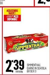 Offerta per Carne in scatola Simmenthal 90gr x 3 a 2,39€