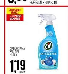 Offerta per Cif duo spray vari tipi 650ml a 1,19€