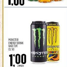 Offerta per Monster energy drink Vari tipi 50cl a 1€