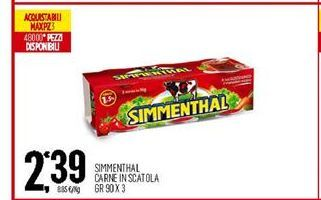 Offerta per Simmenthal Carne in Scatola a 2,39€