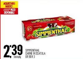 Offerta per Carne in scatola Simmenthal a 2,39€
