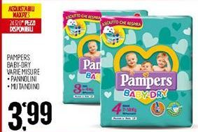 Offerta per Pampers baby-dry varie misure a 3,99€