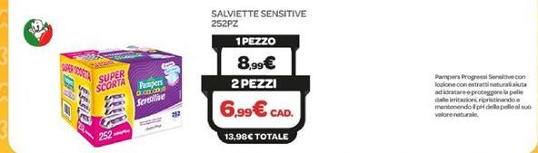 Offerta per Salviette sensitive 252pz a 8,99€