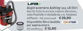 Offerta per Aspiracenere ashley a 12,8€