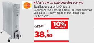 Offerta per Radiatore a olio once 3 a 38,5€