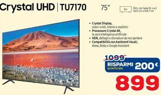 Offerta per Smart tv led Samsung a 899€