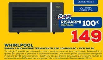 Offerta per Forno a microonde Whirlpool a 149€