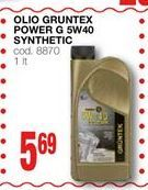Offerta per Olio Gruntex Power G 5W40 Synthetic a 5,69€