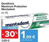 Offerta per Dentifricio maximum protection Mentadent a 1,99€