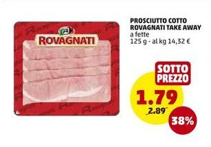 Offerta per Prosciutto Cotto Rovagnati Take Away a 1,79€