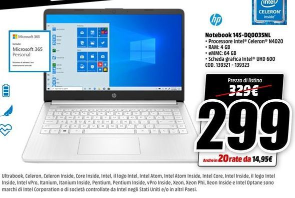 Offerta per Notebook HP a 299€