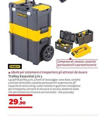Offerta per Trolley essential 3 in 1 Stanley a 29,9€