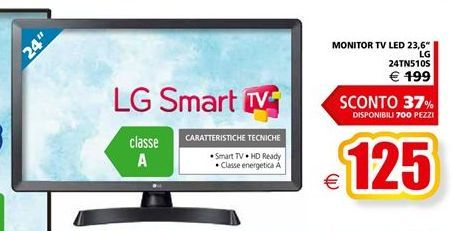 Offerta per Monitor tv led 23,6'' LG 24TN510S a 125€
