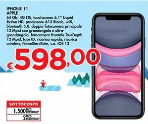 Offerta per IPhone 11 Apple a 598€