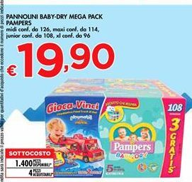 Offerta per Pannolini Baby-Dry Mega Pack Pampers a 19,9€