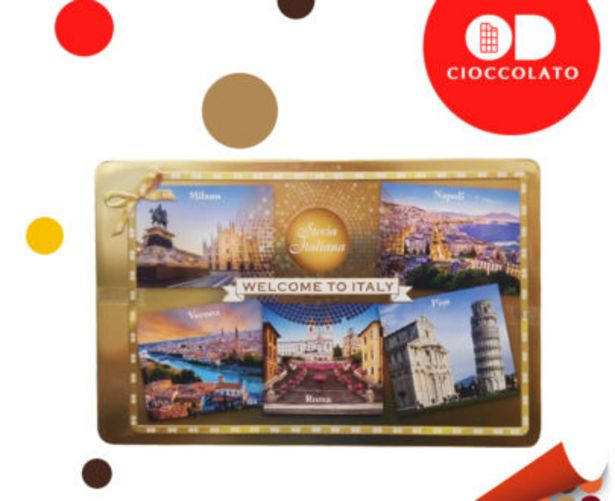 "Offerta per Cioccolatini Boules In Latta Dorata ""Welcome To Italy "" a 14,9€"