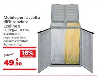 Offerta per Mobile per raccolta differenziata Ecoline 2 a 49,9€