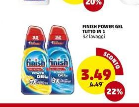 Offerta per Finish power gel totto in 1 a 3,49€