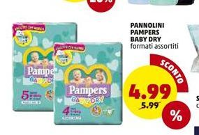 Offerta per Pannolini Pampers baby dry a 4,99€