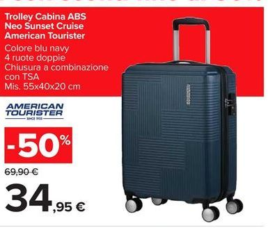 Offerta per Trolley cabina ABS Neo Sunset Cruise American Tourister a 34,95€