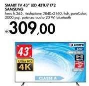 Offerta per SMART TV 43'' LED 43TU7172 SAMSUNG a 309€