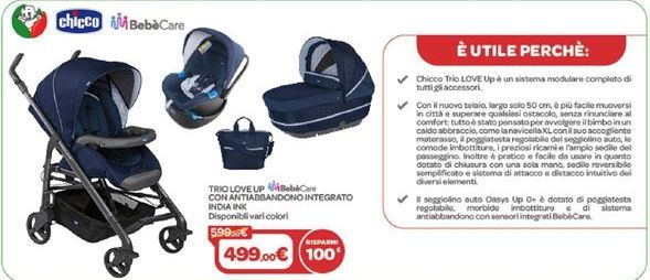 Offerta per Trio Love Up con antiabbandono integrato India Ink a 499€