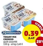 Offerta per YOGURT MIX CREMOSO  a 0,39€