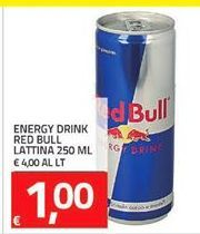 Offerta per Energy drink Red Bull lattina a 1€