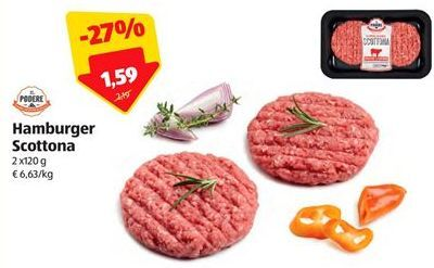 Offerta per Hamburger scottona a 1,59€