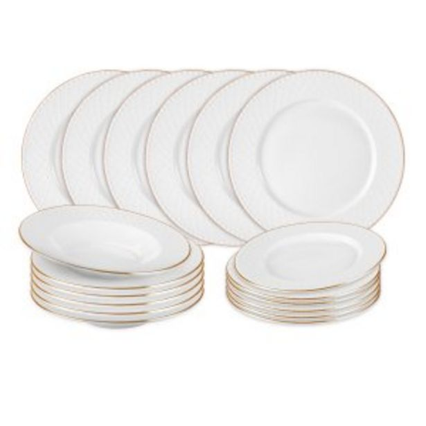 Offerta per SET PIATTI DIADEM IN NEW BONE CHINA, 18 PEZZI a 89,9€
