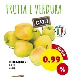 Offerta per Mele golden cat. 1 a 0,99€