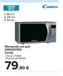 Offerta per Microonde con grill CMG2071DS Candy a 79,9€