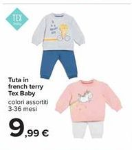 Offerta per Tuta in french terry Tex Baby a 9,99€
