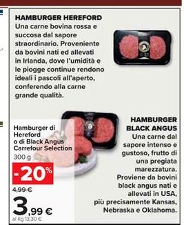 Offerta per Hamburger Hereford a 3,99€
