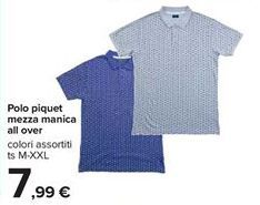 Offerta per Polo piquet mezza manica all over a 7,99€