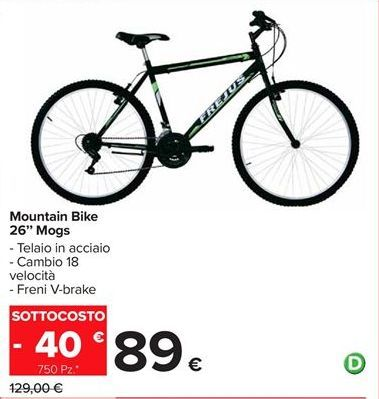 "Offerta per Mountain bike 26"" Mogs a 89€"