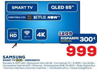 Offerta per Samsung smart tv a 999€