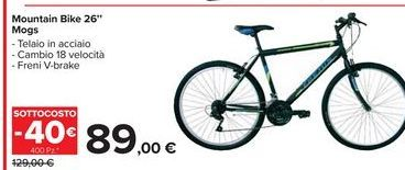 Offerta per Mountain bike 26' mogs a 89€